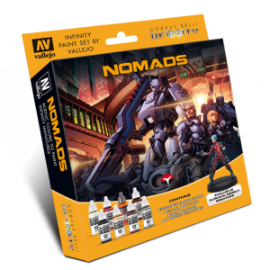 Vallejo   Paint Sets Model Color Set: Infinity Nomads (+Exclusive Miniature) - CORVUS-70233 - 8429551702331