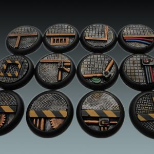 Baker Bases   Sci-fi Bases Sci-Fi: 30mm Round Bases (Lipped) (12) - CB-SF-03-30M - CB-SF-03-30M