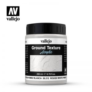 Vallejo   Water & Stone Effects Vallejo Diorama Effects: Stone Textures - Rough White Pumice 200ml - VAL26212 - 8429551262125