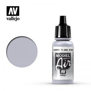 Vallejo   Model Air Model Air: Steel Metallic - VAL065 - 8429551710657