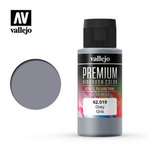 Vallejo   Premium Airbrush Colour Premium Color 60ml: Grey - VAL62019 - 8429551620192
