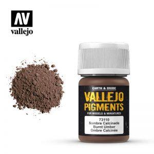 Vallejo   Pigments Vallejo Pigment - Burnt Umber - VAL73110 - 8429551731102