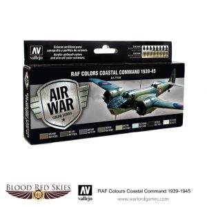 Vallejo Blood Red Skies  Paint Sets RAF Colors Coastal Command 1939-1945 - VAL71148 - 8429551711487