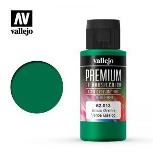 Vallejo   Premium Airbrush Colour Premium Color 60ml: Basic Green - VAL62013 -