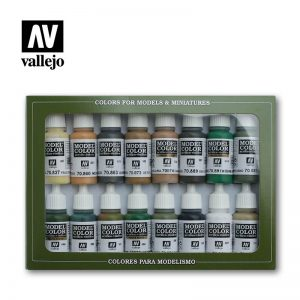 Vallejo   Paint Sets Vallejo Model Color Set - WWII Allies (x16) - VAL70109 - 8429551701099