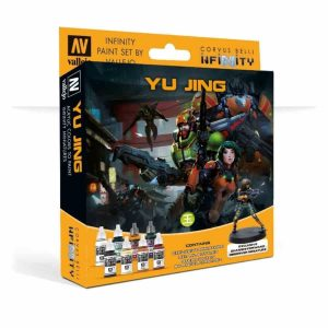 Vallejo   Paint Sets Model Color Set: Infinity Yu Jing (+Exclusive Miniature) - CORVUS-70235 - 8429551702355