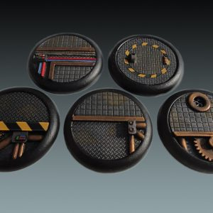 Baker Bases   Sci-fi Bases Sci-Fi: 40mm Round Bases (Lipped) (5) - CB-SF-03-40M - CB-SF-03-40M