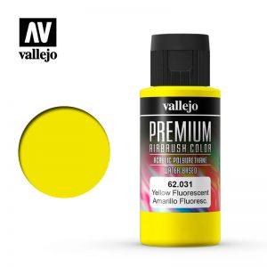 Vallejo   Premium Airbrush Colour Premium Color 60ml: Yellow Fluorescent - VAL62031 - 8429551620314