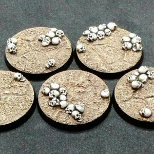 Baker Bases   Skulls Skull: 40mm Round Bases (5) - CB-SK-01-40M - CB-SK-01-40M