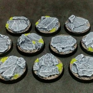 Baker Bases   Rocky Outcrop Rocky Outcrop: 32mm Round Bases (10) - CB-RK-01-32M - CB-RK-01-32M