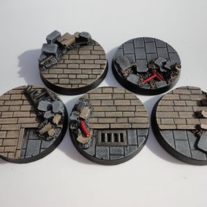 Baker Bases   Cityfight Cityfight: 40mm Round Bases (5) - CB-CF-01-40M - CB-CF-01-40M