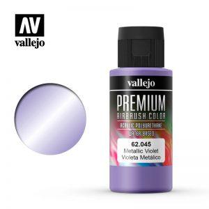 Vallejo   Premium Airbrush Colour Premium Color 60ml: Metallic Violet - VAL62045 - 8429551620451
