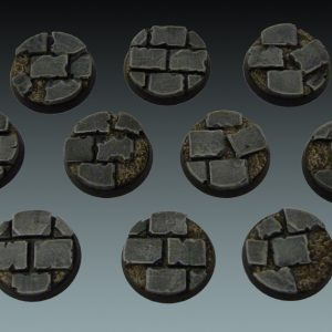 Baker Bases   Ruined Flagstones Flagstones: 25mm Round Bases (10) - CB-RF-01-25M - CB-RF-01-25M