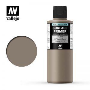Vallejo   Model Air Primers Primer: IDF Israel Sand Grey 200ml - VAL74614 - 8429551746144