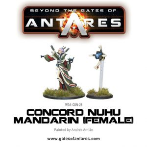 Warlord Games Beyond the Gates of Antares  PanHuman Concord Concord Nu-Hu Mandarin (Female) - WGA-CON-28 - 5060393702238