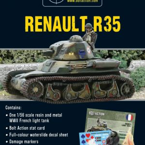 Warlord Games Bolt Action  France (BA) French Renault R-35 Tank - 402415502 - 5060200845653