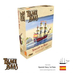 Warlord Games Black Seas  Black Seas Black Seas: Spanish Navy 1st Rate - 792413003 - 5060572505766
