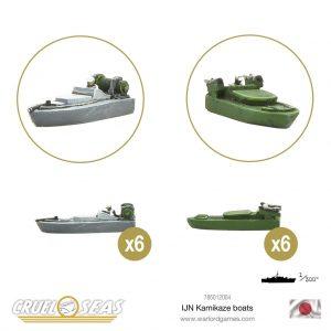 Warlord Games Cruel Seas  Cruel Seas Cruel Seas IJN Kamikaze boats (12) - 785012004 -