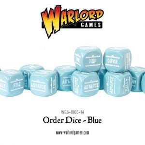Warlord Games Bolt Action  Bolt Action Extras Bolt Action Orders Dice - Blue (12) - WGB-DICE-14 - 5060200846988