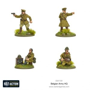 Warlord Games Bolt Action  Belgian Army (BA) Belgian Army HQ - 403017301 - 5060572501706