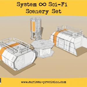 Warlord Games   Sarissa Precision Sci Fi Scenery Set - S150 - 5060572504295