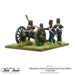 Warlord Games Black Powder  French (Napoleonic) Napoleonic French Imperial Guard Foot Artillery 6-pdr (firing) - 303012015 - 5060393707714