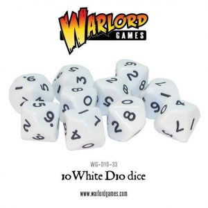 Warlord Games   D10 10 White D10 - WG-D10-33 - 5060200849675