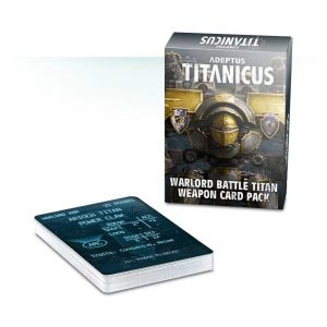 Games Workshop (Direct) Adeptus Titanicus  Adeptus Titanicus Adeptus Titanicus: Warlord Battle Titan Weapon Card Pack - 60220399003 - 5011921103119