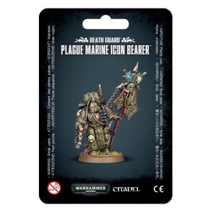 Games Workshop Warhammer 40,000  Death Guard Death Guard Plague Marine Icon Bearer - 99070102021 - 5011921153633
