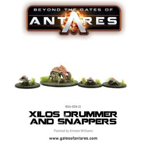 Warlord Games Beyond the Gates of Antares  Mercenaries For Hire Xilos Drummer and Snappers - WGA-GEN-22 - 5060393703860
