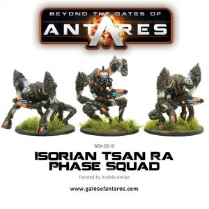 Warlord Games Beyond the Gates of Antares  Isorian Senatex Isorian Tsan Ra Phase Squad (3 Models) - WGA-ISO-10 - 5060393703952