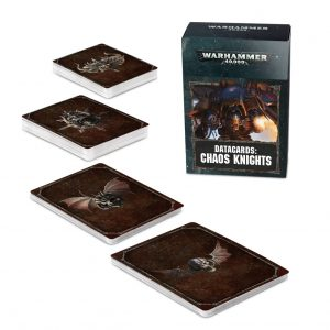 Games Workshop Warhammer 40,000  Chaos Knights Datacards: Chaos Knights - 60220102008 - 5011921122172