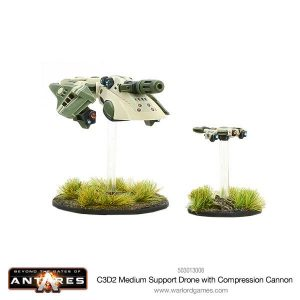 Warlord Games Beyond the Gates of Antares  PanHuman Concord C3D2 Medium Support Drone with Compression Cannon - 503073008 -