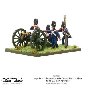 Warlord Games Black Powder  French (Napoleonic) Napoleonic French Imperial Guard Foot Artillery howitzer (firing) - 303012019 - 5060393707738