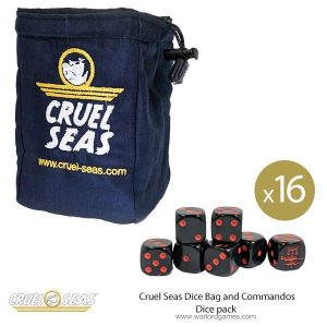 Warlord Games Cruel Seas  Cruel Seas Cruel Seas Dice Bag and Commandos Dice pack - 788901001 -