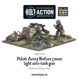 Warlord Games Bolt Action  Poland (BA) Polish Army Bofors 37mm anti-tank gun - WGB-PI-29 - 5060200849644