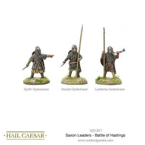 Warlord Games Hail Caesar  The Dark Ages Saxon Leaders - Battle Of Hastings - 103013017 -