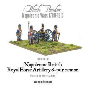 Warlord Games Black Powder  British (Napoleonic) British Horse Artillery 6-pdr Cannon - WGN-BR-31 - 5060200849200