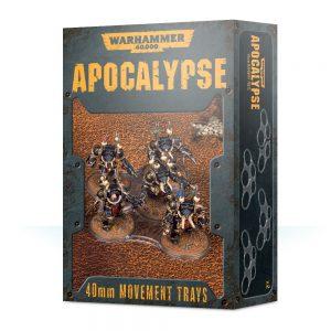 Games Workshop Warhammer 40,000  Apocalypse Warhammer 40,000 Apocalypse Movement Trays (40mm) - 99220199073 - 5011921119844
