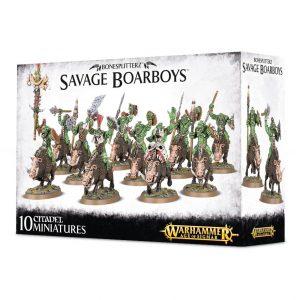 Games Workshop Age of Sigmar  Orruk Warclans Bonesplitterz Savage Boarboys - 99120209035 - 5011921076529
