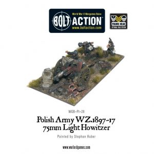 Warlord Games Bolt Action  Poland (BA) Polish Army 75mm light artillery - WGB-PI-28 - 5060200849637