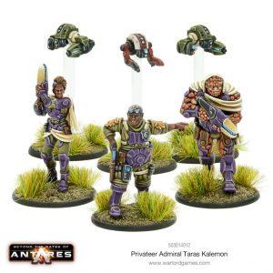 Warlord Games Beyond the Gates of Antares  Mercenaries For Hire Privateer Admiral Taras Kalemon - 503014012 - 5060393709954