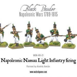Warlord Games Black Powder  French (Napoleonic) Nassau Light Infantry firing - WGN-NS-21 - 5060393700401