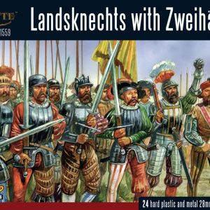 Warlord Games Pike & Shotte  Italian Wars 1494-1559 Landsknechts with Zweihanders - 202016002 - 5060393709466