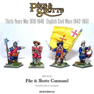 Warlord Games Pike & Shotte  The English Civil Wars 1642-1652 Pike & Shotte Command Group - WGP-CMD-01 -