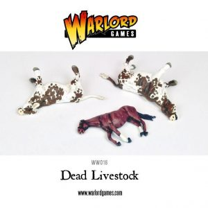 Warlord Games Bolt Action  Bolt Action Extras Dead Livestock (2 cows, 1 horse) - WGB-FA-1 - 5060200840641