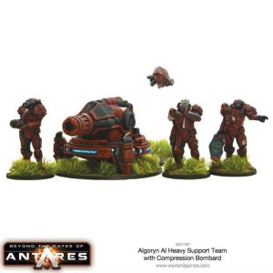 Warlord Games Beyond the Gates of Antares  Algoryn Algoryn AI Compression Bombard Support Team - 502411001 - 5060393704324