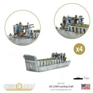 Warlord Games Cruel Seas  Cruel Seas Cruel Seas: US LCM3 Landing craft - 785011001 - 5060572504189
