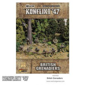 Warlord Games Konflikt '47  British (K47) Konflikt '47 British Grenadiers - 452010602 - 5060572502666