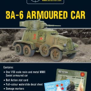 Warlord Games Bolt Action  Soviet Union (BA) Russian BA-6 Armoured Car - 402414001 - 5060393701378